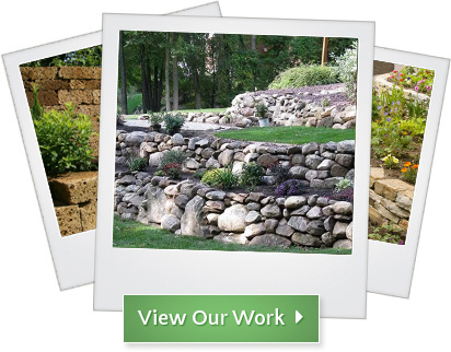 Portfolio of Landscape Design Throughout Michigan | Treasured Earth - Gallery-retainingwalls
