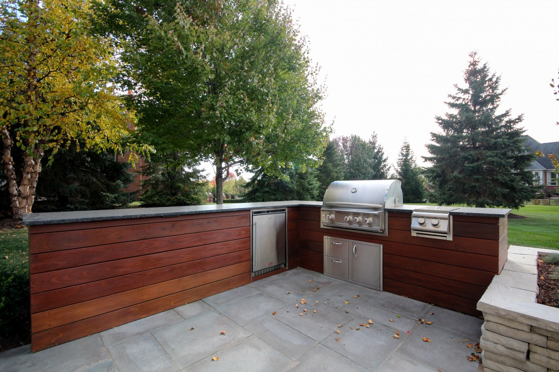 How we transformed a Northville, Michigan plain old patio into a new outdoor kitchen - Blog - Treasured Earth Landscape Design & Build - northville_outdoor_kitchen