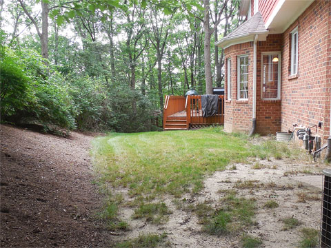 Before & After Gallery - Treasured Earth Landscape Design & Build - rosetta-stone-patio-before