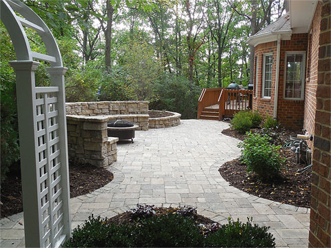 Before & After Gallery - Treasured Earth Landscape Design & Build - rosetta-stone-patio-after